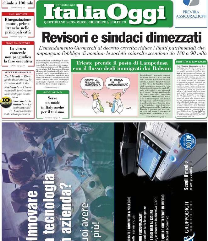 23 maggio: prime pagine Italia